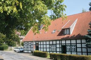 Außenansicht der Wohngemeinschaft Fachwerkhaus